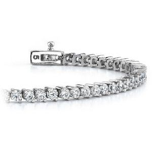 5 Carats Prong Set Round Cut Diamond Tennis Bracel